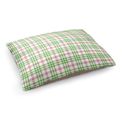 Candy Cane Plaid Pet Bed Pillow