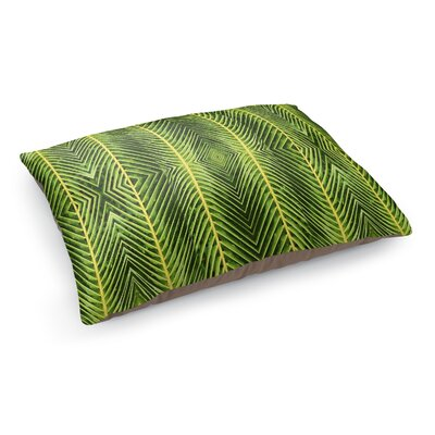 Palms Pet Bed Pillow Color: Green