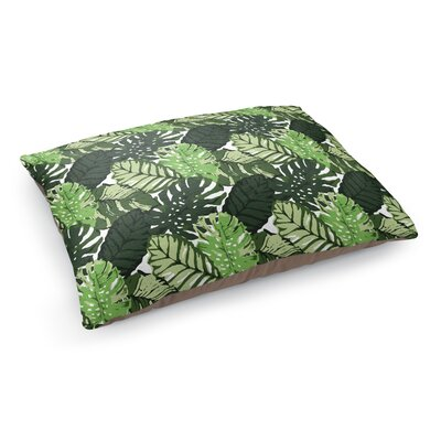 Tropical Leaves Pet Bed Pillow