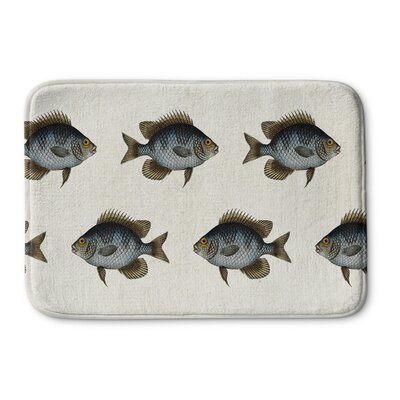 Ellenburg Nautical Memory Foam Bath Mat Size: 17 W x 24 L
