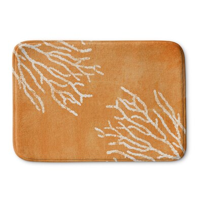 Rosia Memory Foam Bath Mat Size: 24 W x 36 L, Color: Orange