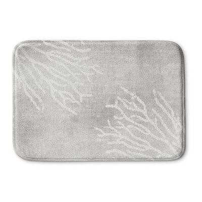 Rosia Memory Foam Bath Mat Size: 17 W x 24 L, Color: Gray
