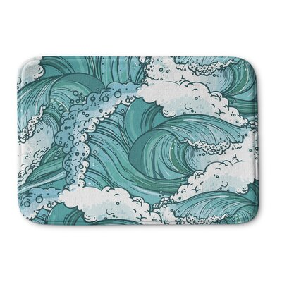 Balsam Wave Memory Foam Bath Mat Size: 24 W x 36 L