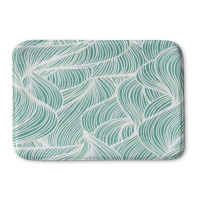 Birchwood Glass Memory Foam Bath Mat Size: 17 W x 24 L