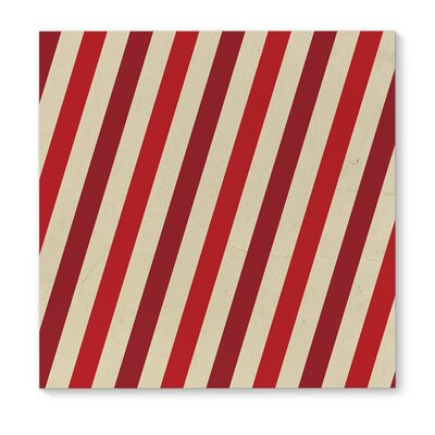'Red Stripes' Graphic Art Print on Canvas