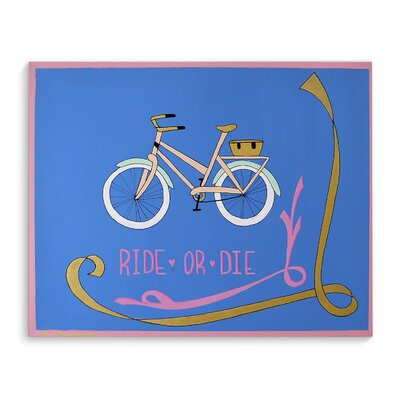 'Ride or Die' Graphic Art Print on Canvas