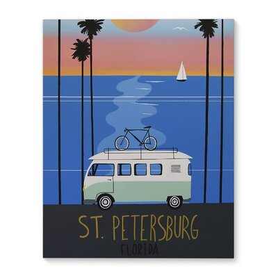 'St. Pete Poster' Graphic Art Print on Canvas