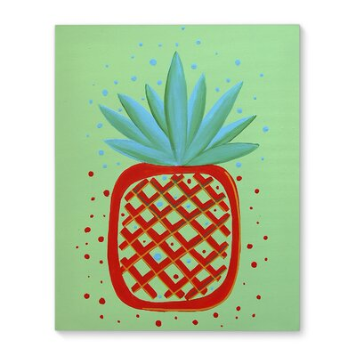 'Pineapple Red' Graphic Art Print on Canvas