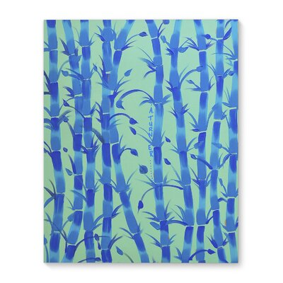 'Bamboo Green' Graphic Art Print on Canvas