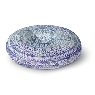 Kangana Double Sided Print Floor Pillow Size: 23 H x 23 W, Color: Blue