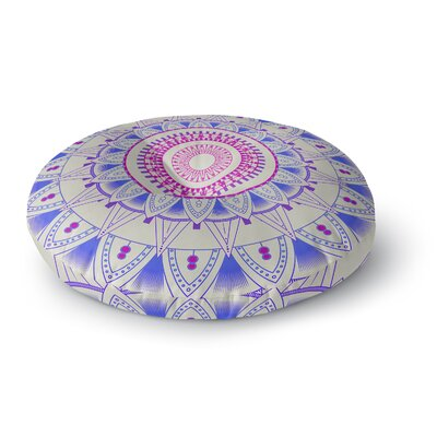 Kangana Round Indoor/Outdoor Floor Pillow Size: 26 H x 26 W, Color: Blue