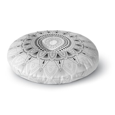 Kangana Round Double Sided Print Floor Pillow Size: 26 H x 26 W, Color: White