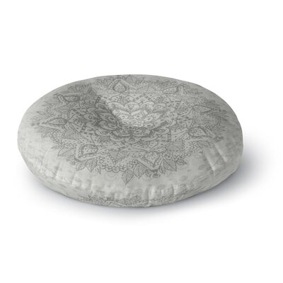 Kangana Microfiber Floor Pillow Size: 26 H x 26 W, Color: Gray
