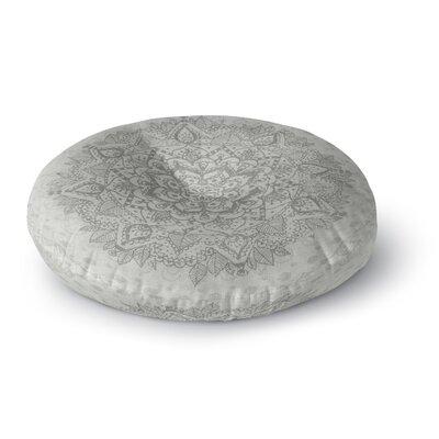 Kangana Microfiber Floor Pillow Size: 23 H x 23 W, Color: Gray