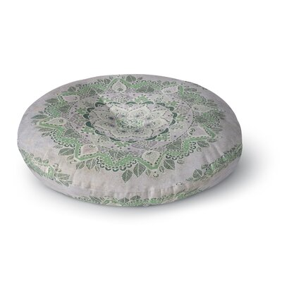 Kangana Microfiber Floor Pillow Size: 26 H x 26 W, Color: Green/Gray/Ivory