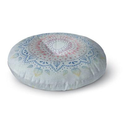 Kangana Double Sided Print Microfiber Floor Pillow Size: 23 H x 23 W, Color: Blue/Pink/ Purple