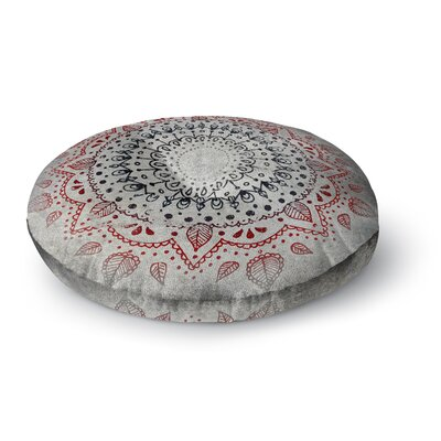 Kangana Double Sided Print Microfiber Floor Pillow Size: 26 H x 26 W, Color: Gray/Red
