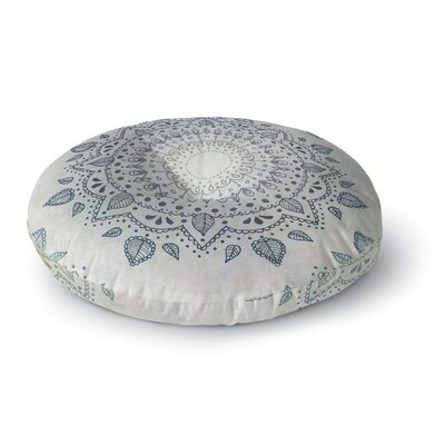 Kangana Double Sided Print Microfiber Floor Pillow Size: 26 H x 26 W, Color: Blue/Gray/Ivory