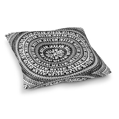 Kangana Bohemian Double Sided Print Floor Pillow Size: 26 H x 26 W, Color: Black