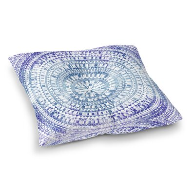 Kangana Bohemian Double Sided Print Floor Pillow Size: 26 H x 26 W, Color: Blue
