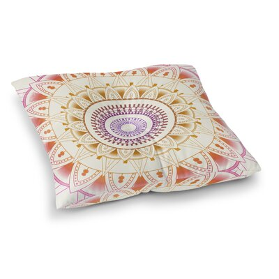 Kangana Square Floor Pillow Size: 23 H x 23 W, Color: Purple/Pink/Ivory