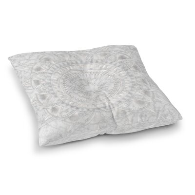 Kangana Double Sided Print Floor Pillow Size: 26 H x 26 W, Color: Pearl