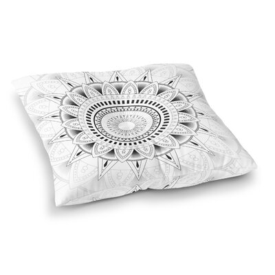 Kangana Double Sided Print Floor Pillow Size: 26 H x 26 W, Color: White