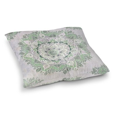 Kangana Indoor/Outdoor Floor Pillow Size: 26 H x 26 W, Color: Green/Ivory