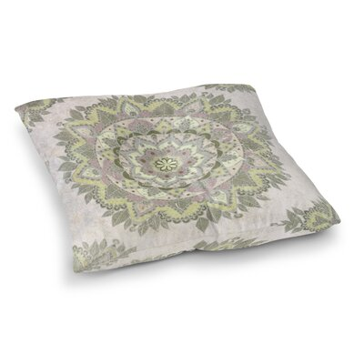 Kangana Indoor/Outdoor Floor Pillow Size: 23 H x 23 W, Color: Green/Pink