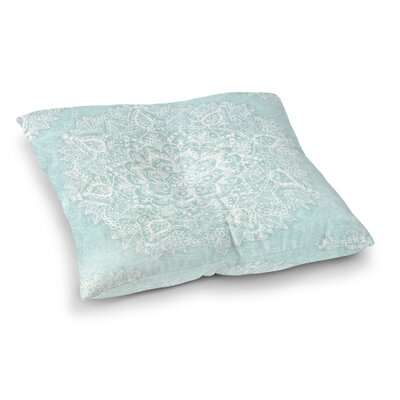 Kangana Double Sided Print Indoor/Outdoor Floor Pillow Size: 23 H x 23 W, Color: Aqua