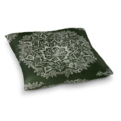 Kangana Double Sided Print Indoor/Outdoor Floor Pillow Size: 26 H x 26 W, Color: Green/Ivory