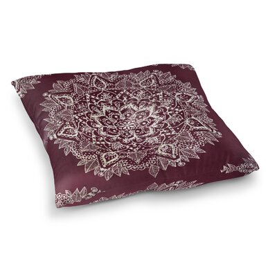 Kangana Double Sided Print Indoor/Outdoor Floor Pillow Size: 26 H x 26 W, Color: Red/Ivory