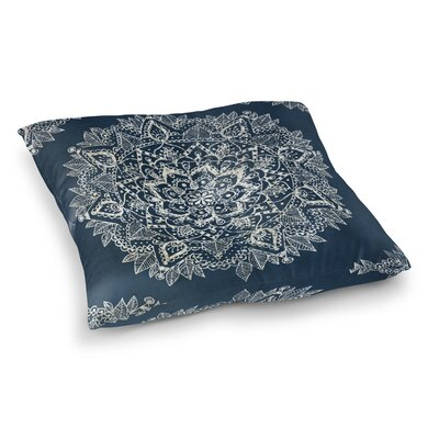 Kangana Double Sided Print Indoor/Outdoor Floor Pillow Size: 26 H x 26 W, Color: Blue/Ivory