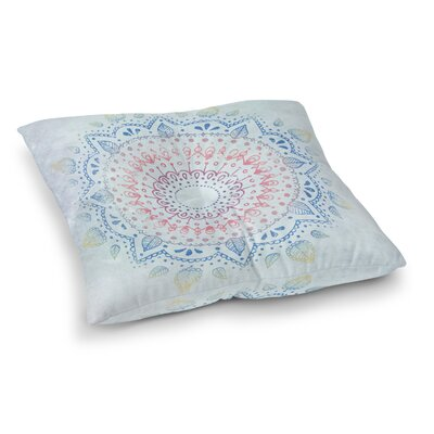 Kangana Square Bohemian Floor Pillow Size: 23 H x 23 W, Color: Blue/Gray/Ivory