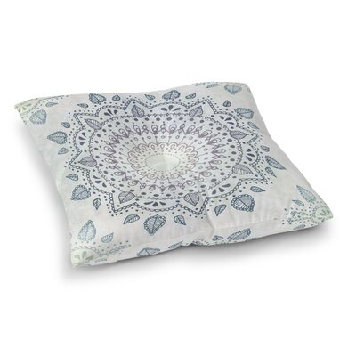 Kangana Square Bohemian Floor Pillow Size: 26 H x 26 W, Color: Blue/Pink/ Purple