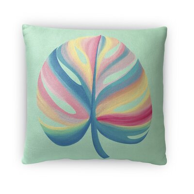 Savas Leaf Throw Pillow Size: 16 x 16