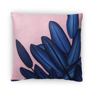 Danhui Leaves Throw Pillow Size: 16 x 16