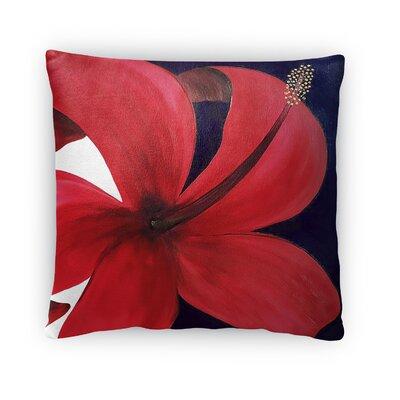 Maly Hibiscus Throw Pillow Size: 16 x 16