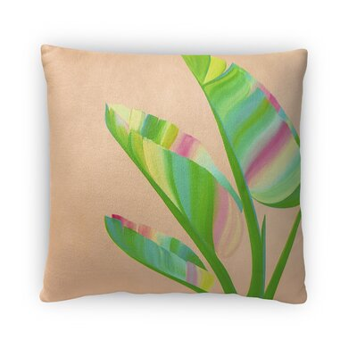 Bradmoor Banana Leaves Throw Pillow Size: 16 x 16
