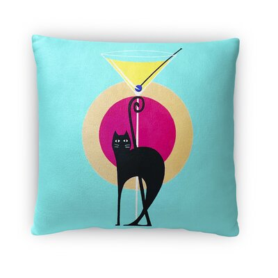 Martini Throw Pillow Size: 18 x 18