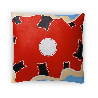 Full Moon Throw Pillow Size: 16 x 16