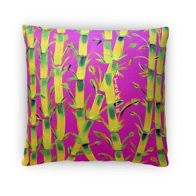 Sparkhawk Bamboo Throw Pillow Size: 18 x 18, Color: Pink