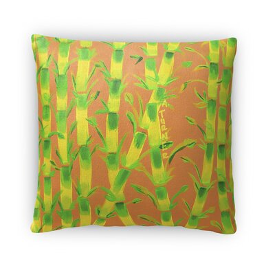 Sparkhawk Bamboo Throw Pillow Size: 18 x 18, Color: Orange