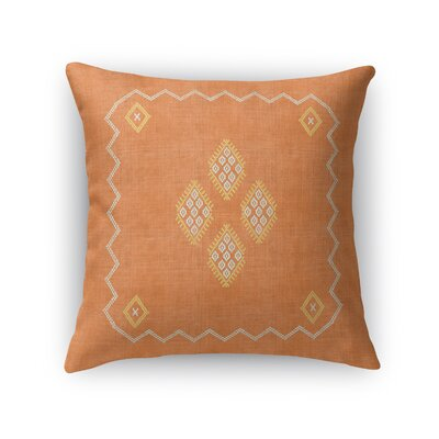 Stellan Accent Throw Pillow Size: 16 x 16, Color: Orange