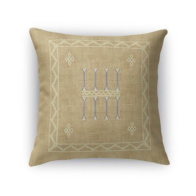 Cristo Accent Throw Pillow Size: 18 x 18, Color: Sand