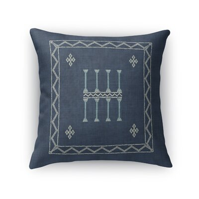 Cristo Accent Throw Pillow Size: 18 x 18, Color: Navy