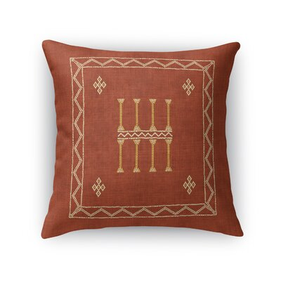 Cristo Accent Throw Pillow Size: 18 x 18, Color: Rust