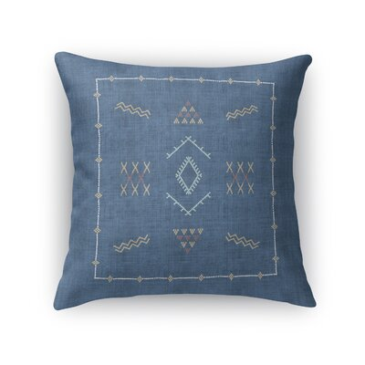 Rogers Accent Throw Pillow Size: 18 x 18, Color: Indigo