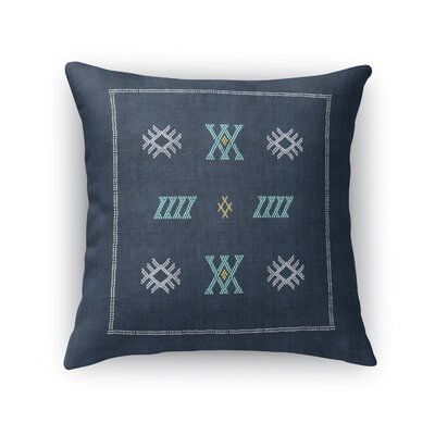 Touete Accent Throw Pillow Size: 16 x 16, Color: Navy