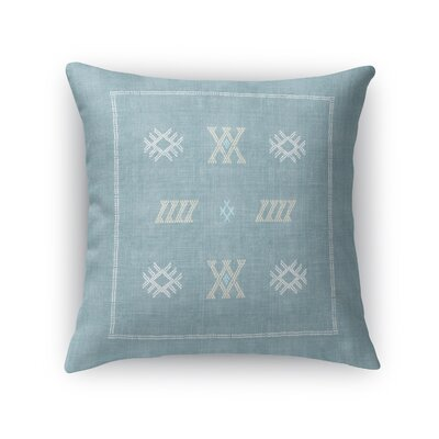 Touete Accent Throw Pillow Size: 18 x 18, Color: Aqua